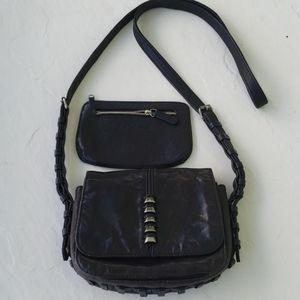 Pour La Victoire leather crossbody purse and pouch